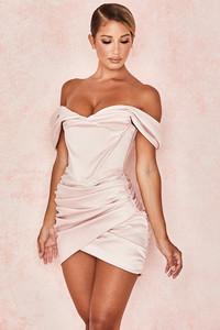 'Coraline' Pink Satin Corset Dress