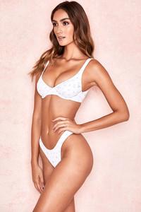 Mariposa White Floral Print Bikini