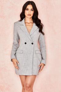 Reece Grey Tailored Blazer Dress