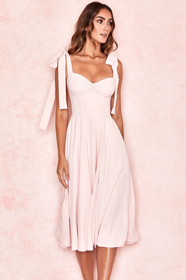 Alicia Blush Midi Sundress
