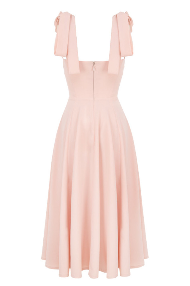 alicia dress in blush