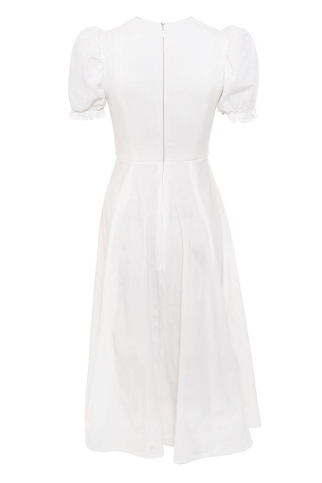 ellery dress in white