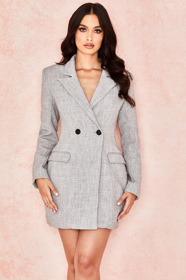 Reece Grey Tailored Blazer Dress