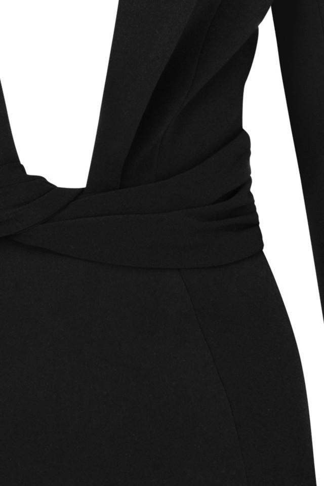 black regina dress