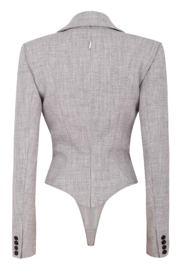 brisa bodysuit in grey