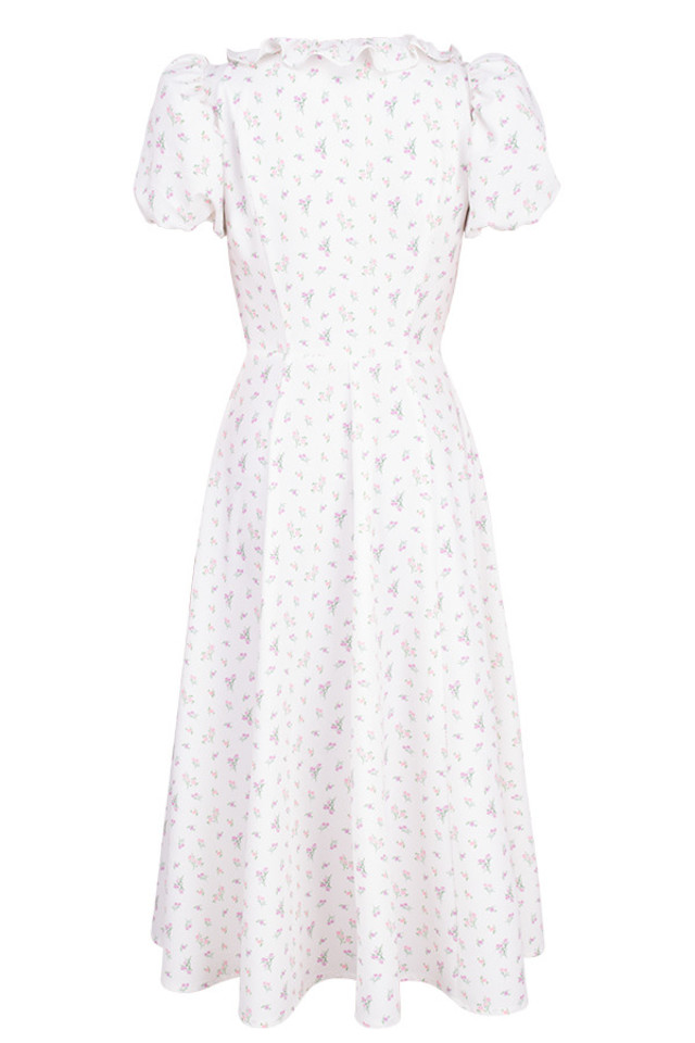 lina dress in white