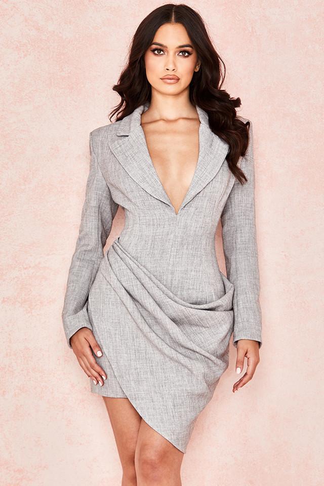 Mari Drape Front Blazer Dress