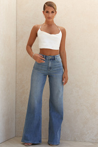Antonia High Waist Wide Leg Jeans