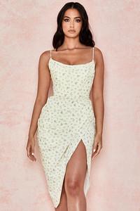 Daniella Lemon Floral Balcony Corset Dress