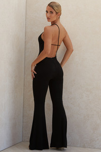 Millie Black Asymmetric Jumpsuit