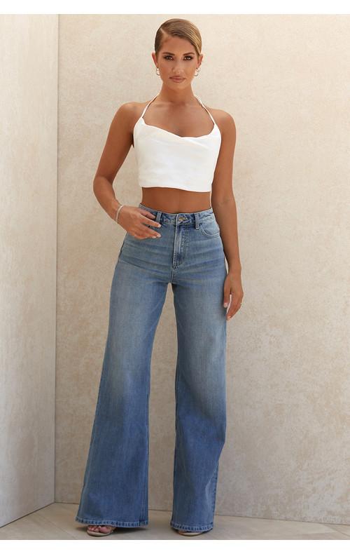 Antonia High Waist Wide Leg Jeans