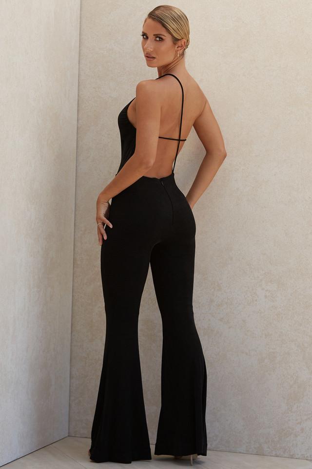 Millie Black Asymmetric Jumpsuit