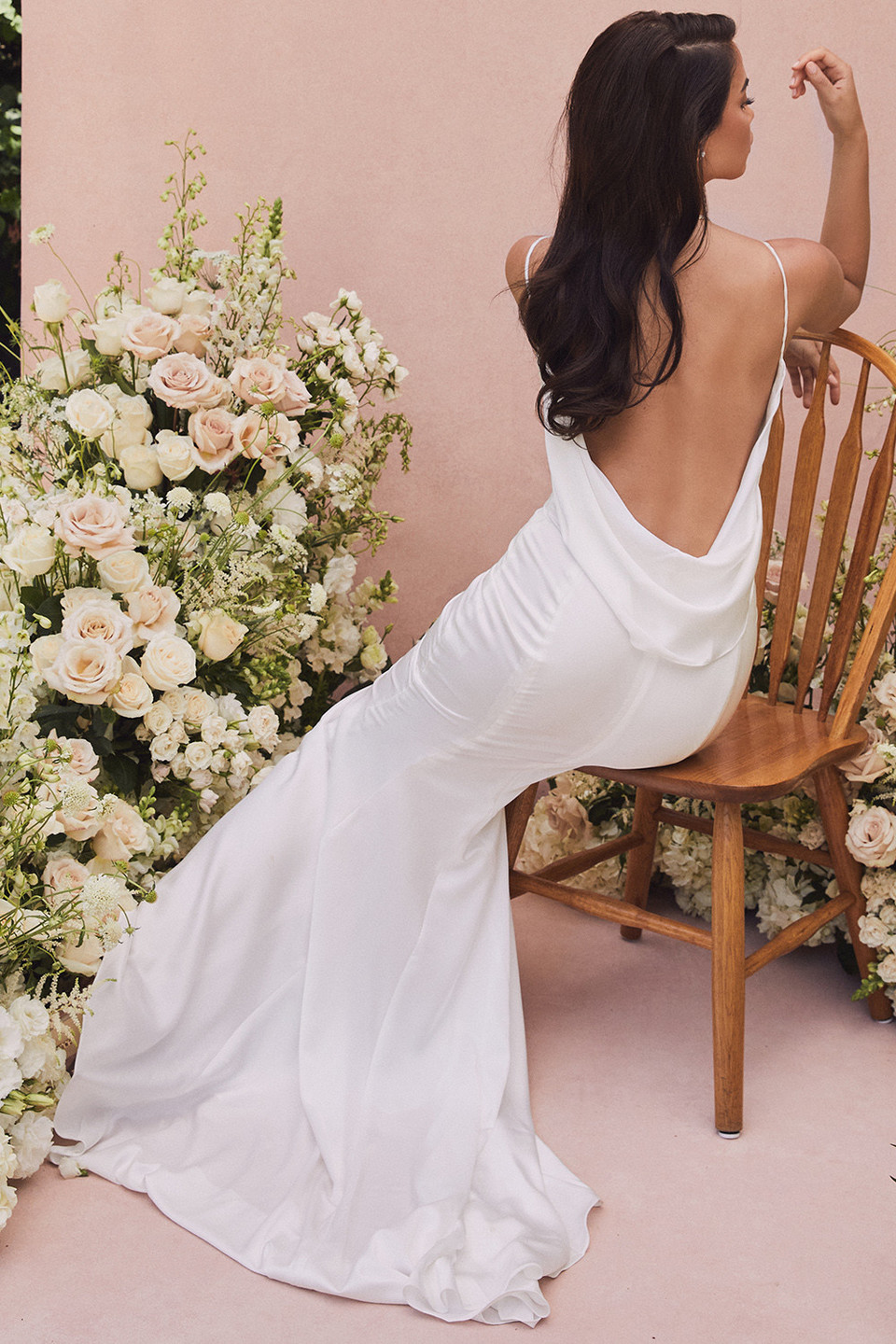 Aurelie Ivory Draped Back Bridal Gown