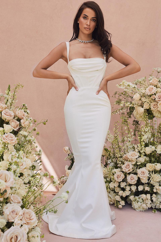Francoise Ivory Balconette Corset Bridal Gown