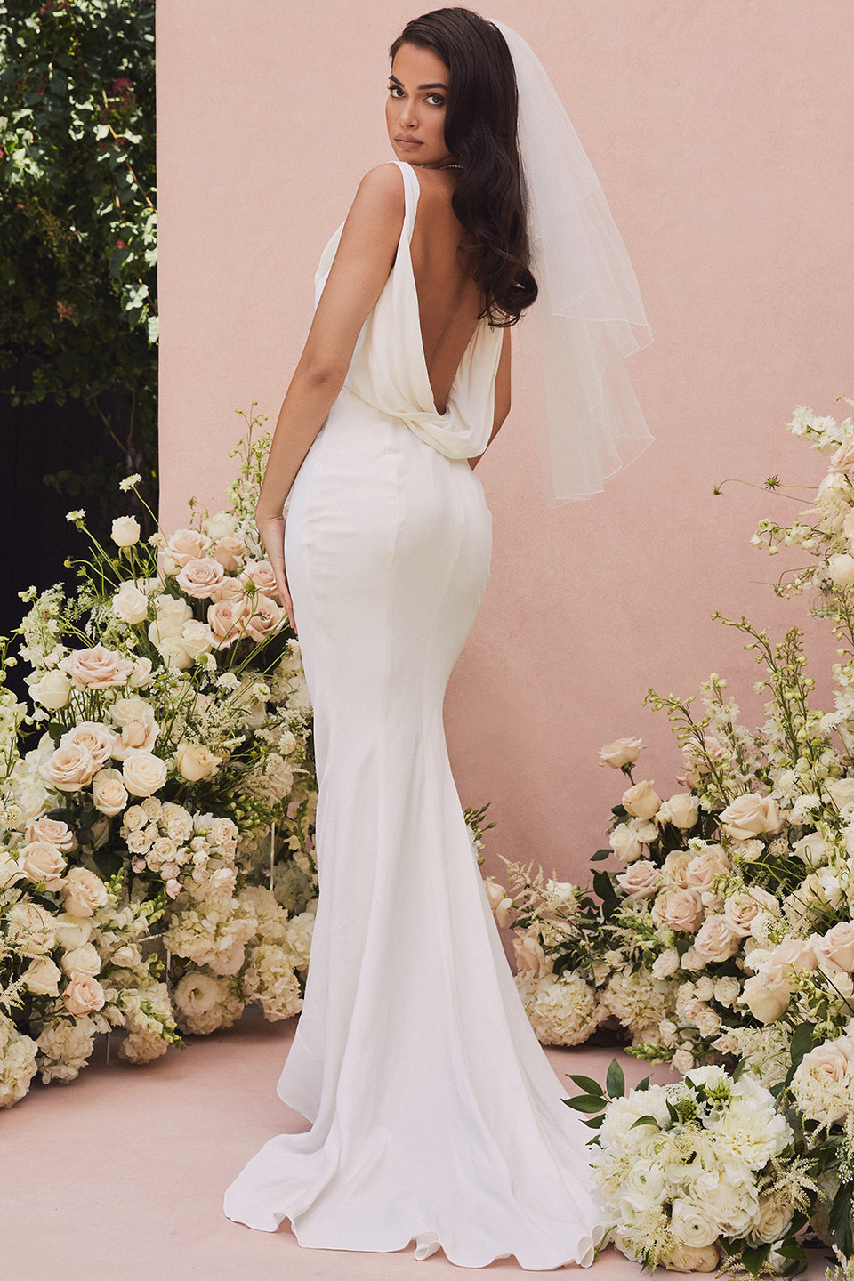 Odette Ivory Draped Back Bridal Gown