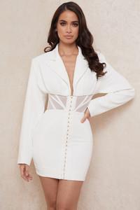 Anine White Blazer Corset Dress