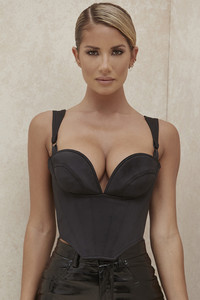 Meghan Black Satin Shaped Corset