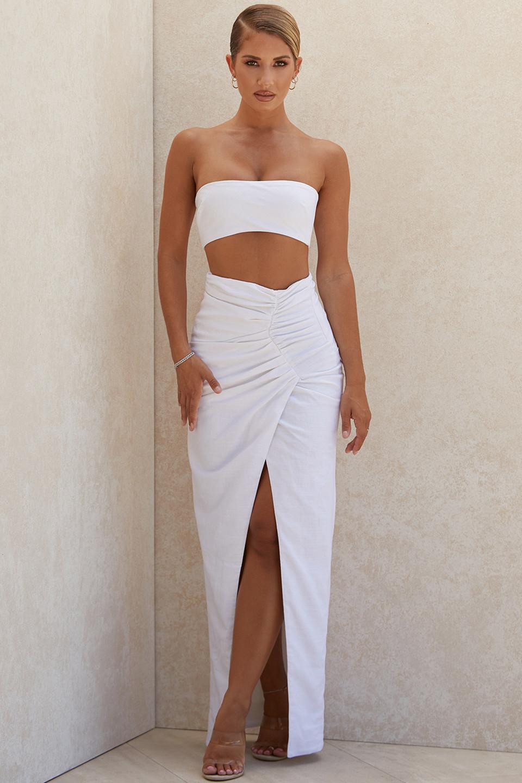 Jada White Maxi Wrap Skirt