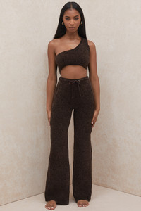 Josie Chocolate Chenille Trousers