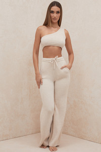 Josie Cream Chenille Trousers