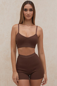 Eden Chocolate Bandage Shorts