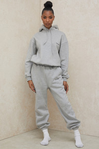 Cloud Grey Brushback Jogging Trousers