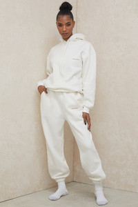 Cloud Off White Brushback Jogging Trousers