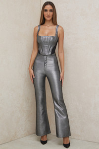 Jas Silver Kick Flare Trousers