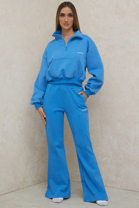 Oli Blue Flared Leg Track Pants