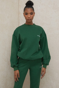 Tommy Green Oversized Crewneck Sweatshirt