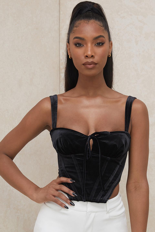 Aayla Black Velvet Cupped Corset Top