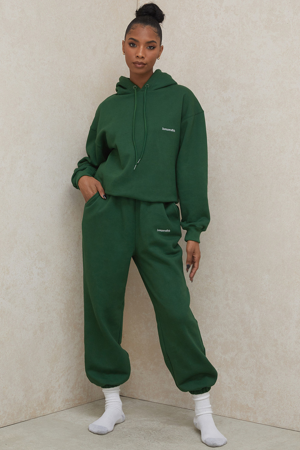 Sky Green Brushback Jogging Trousers