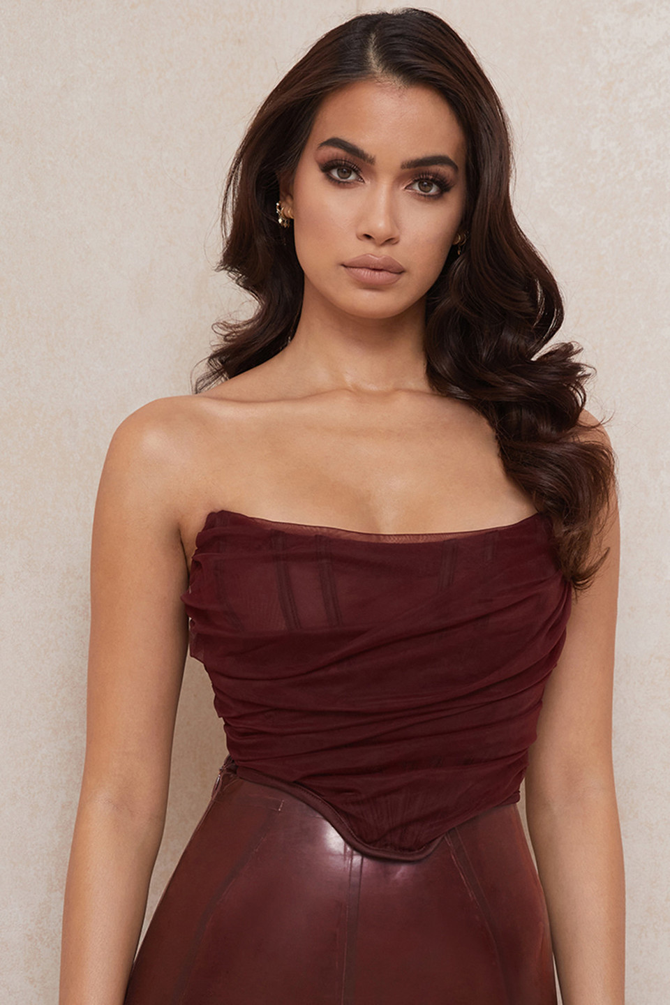 Melinda Raisin Boned Corset