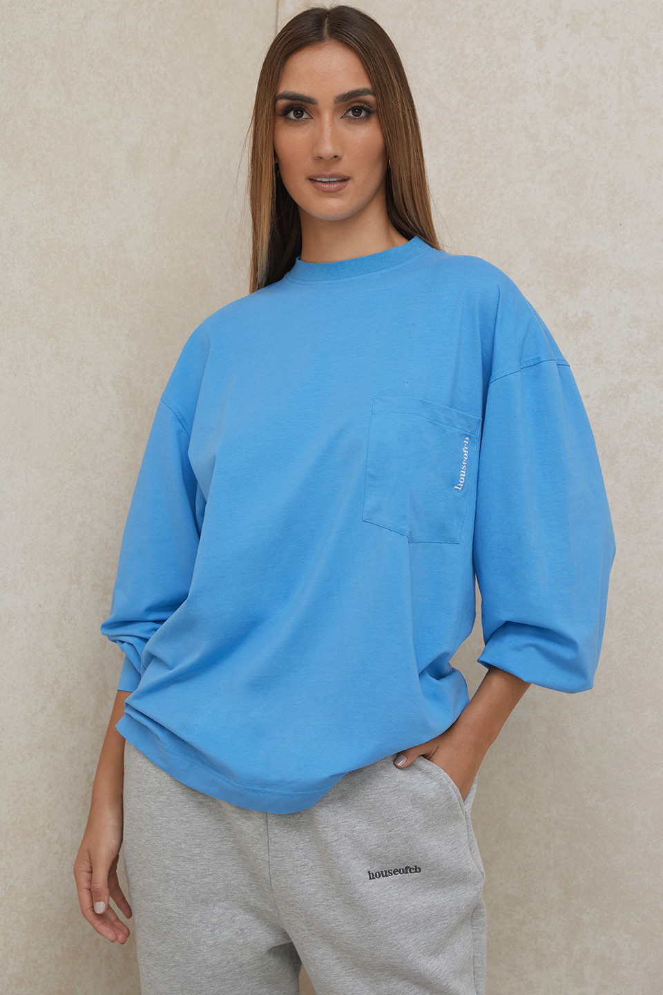Strata Blue Long Sleeve Top