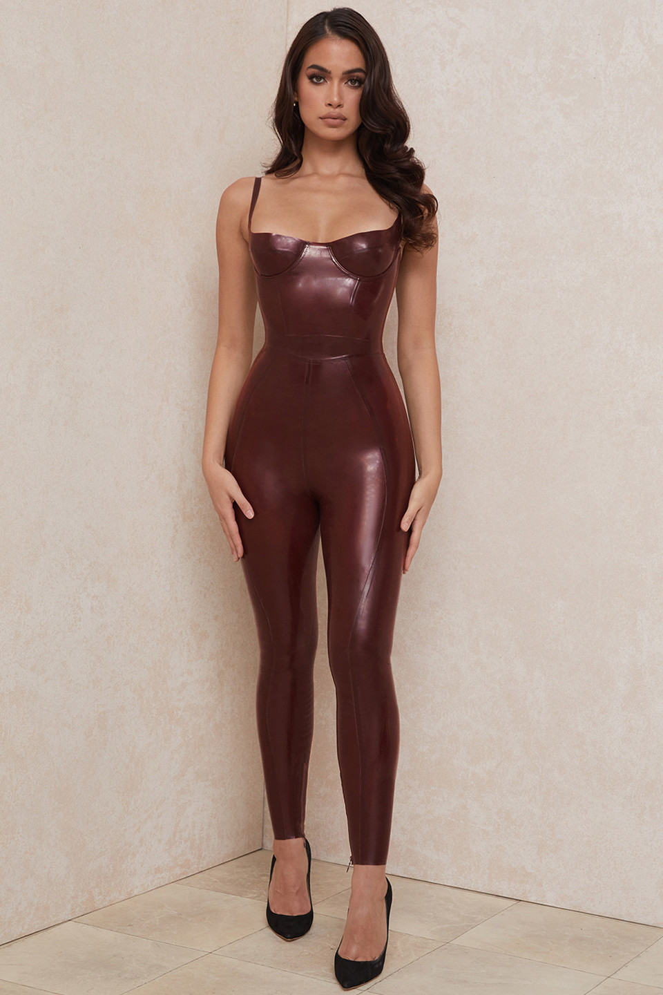 Lia Raisin Latex High Waist Leggings