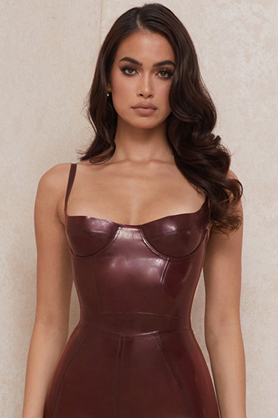 Tia Raisin Latex Bustier Bodysuit