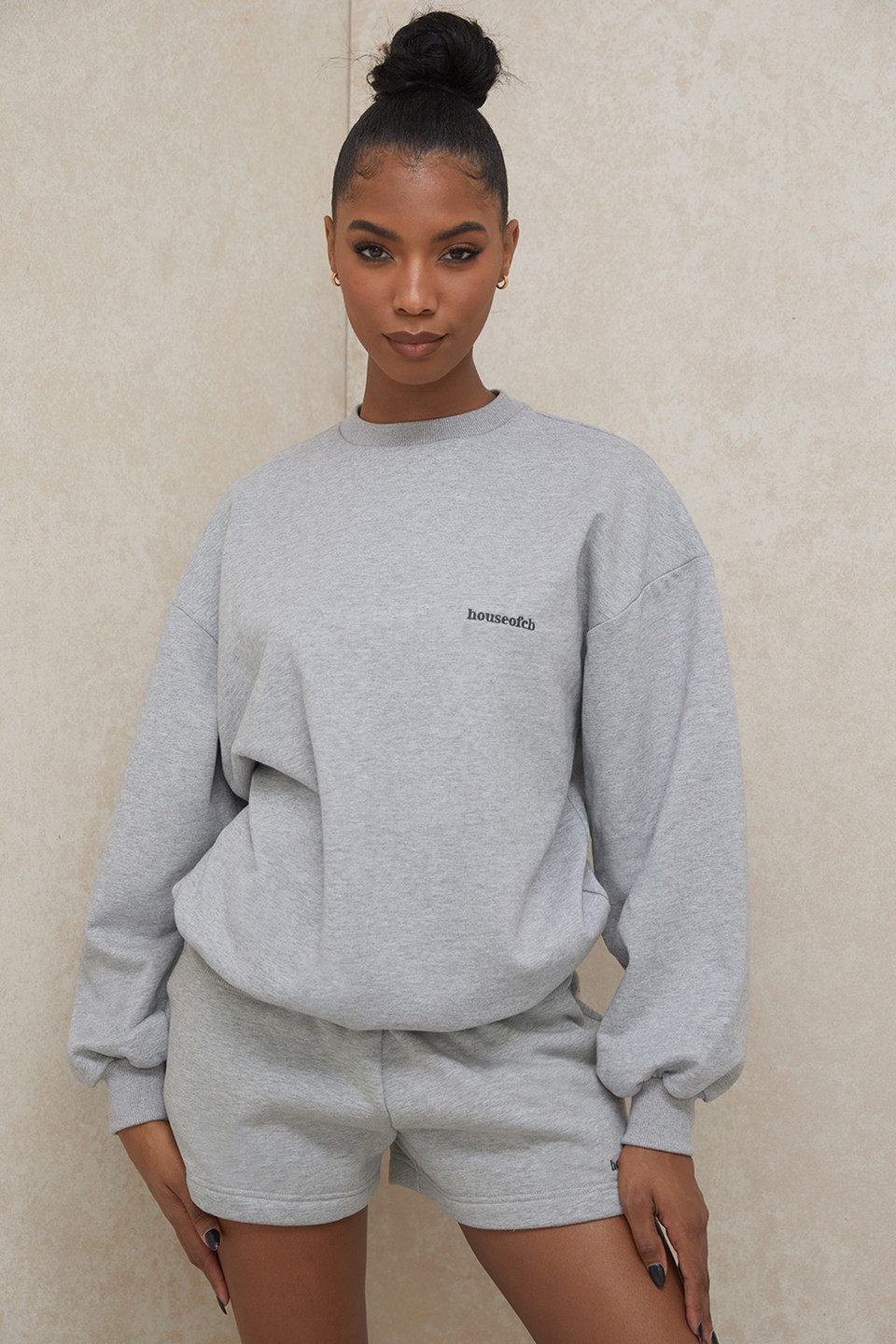 Tommy Grey Oversized Crewneck Sweatshirt