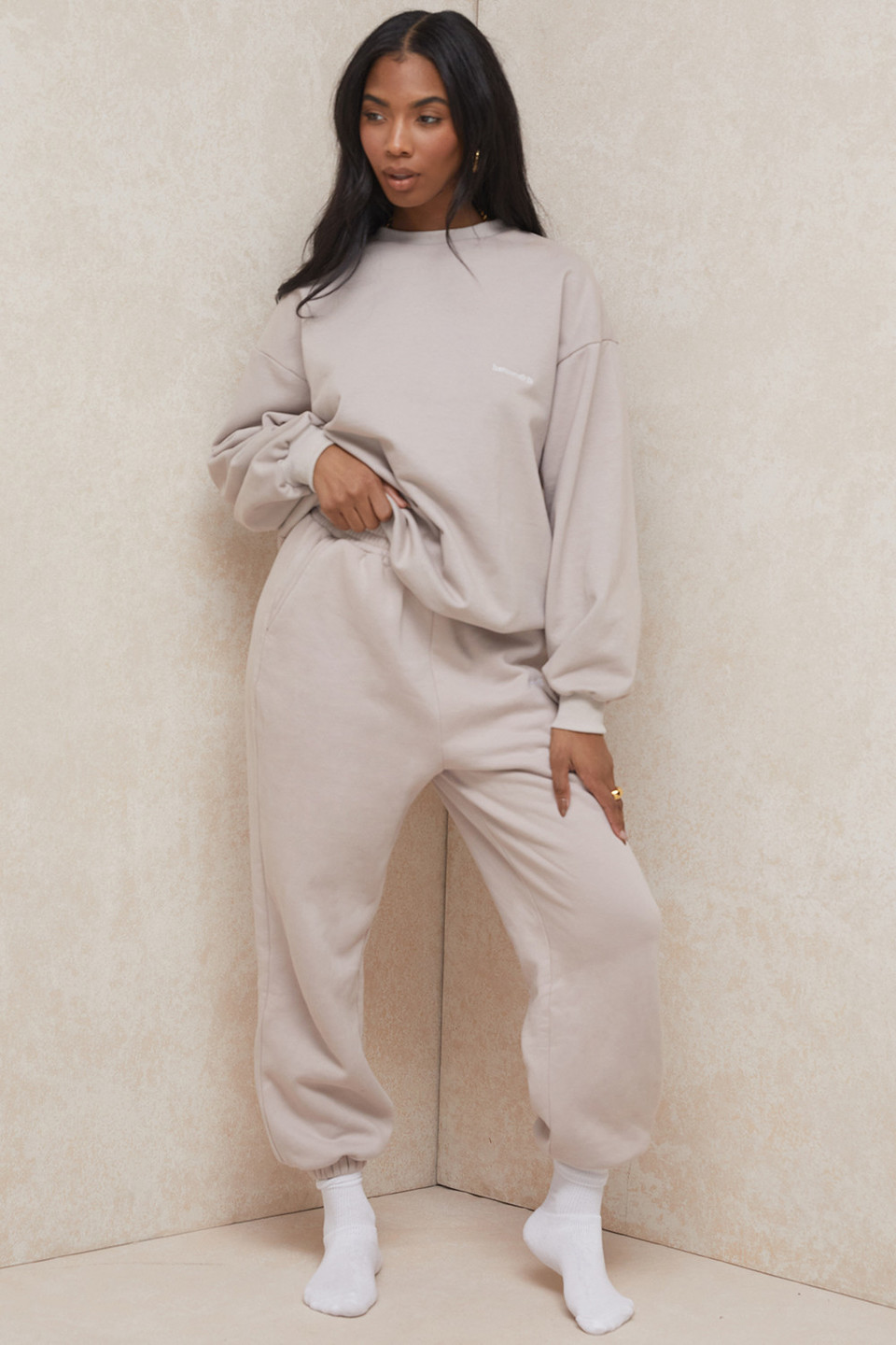 Cloud Stone Brushback Jogging Trousers