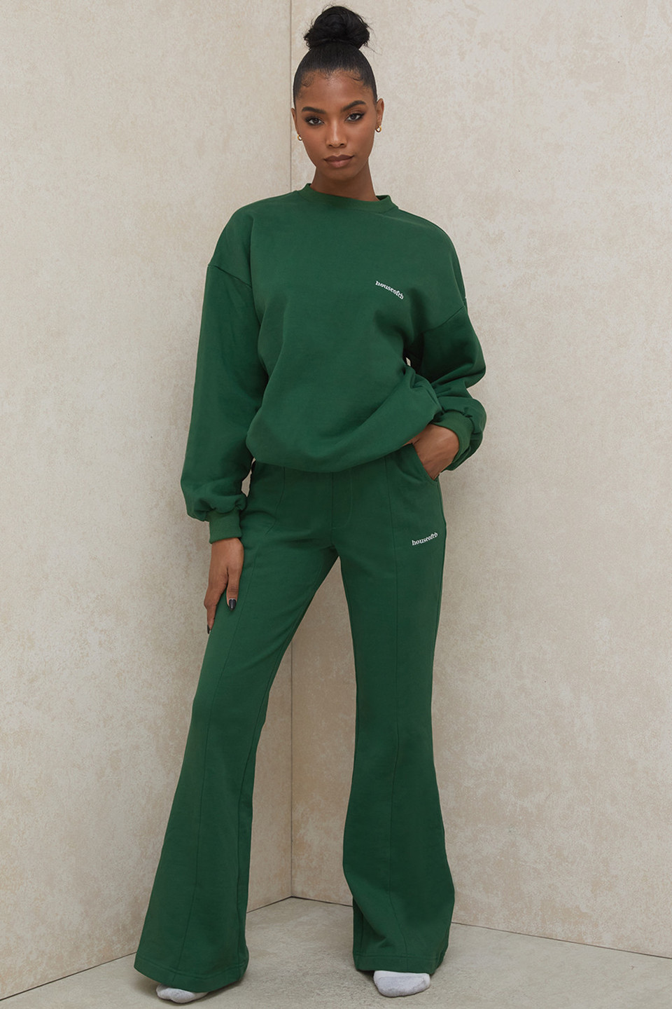 Oli Green Flared Leg Track Pants