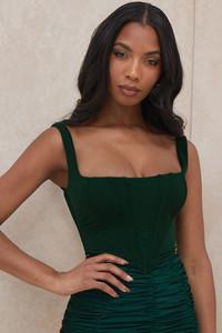 Ninetta Emerald Green Mesh Corset
