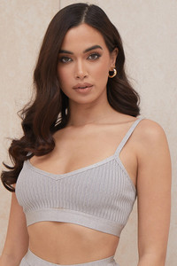 Evie Grey Marl Bandage Bralette