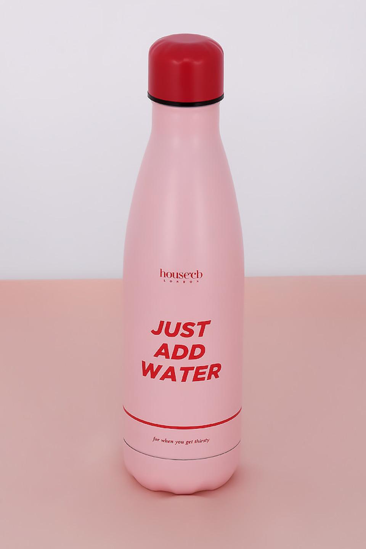 Metal Pink Water Bottle