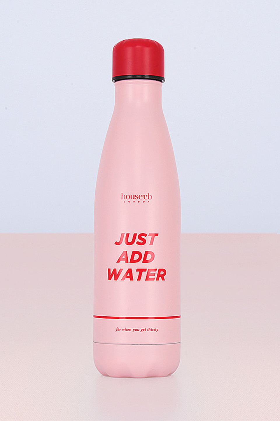 Metal Pink Water Bottle