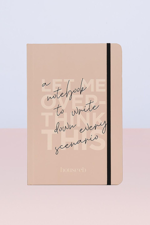 Hardback Notebook Beige and Black