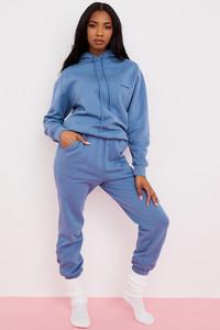 Sky Azure Fleece Back Jogging Trouser
