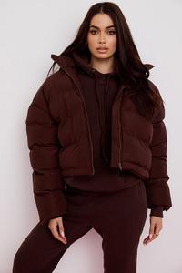Hero Chocolate Oversized C Shape Puffer Jacket