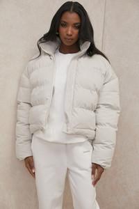 Hero Ivory Oversized C Shape Puffer Jacket