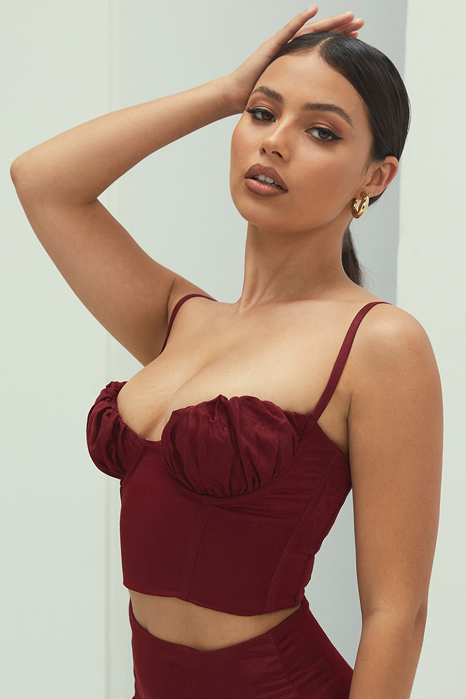 Adore Red Glossy Corset Top