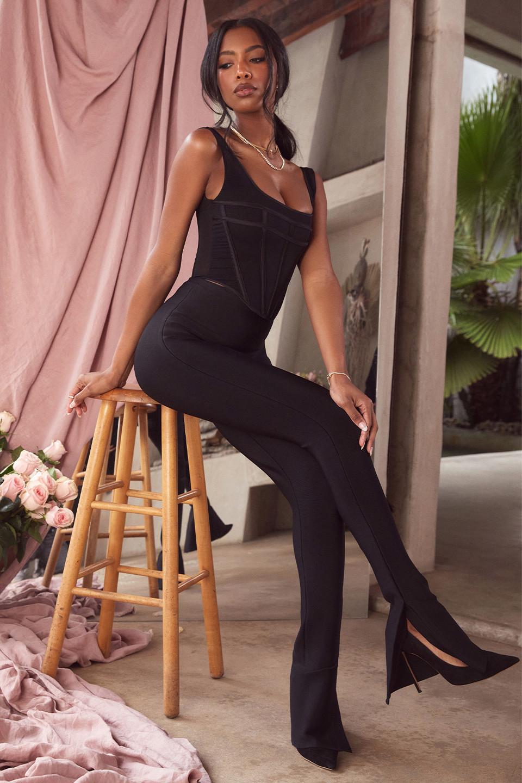 Gloriette Black High Waisted Bandage Trousers