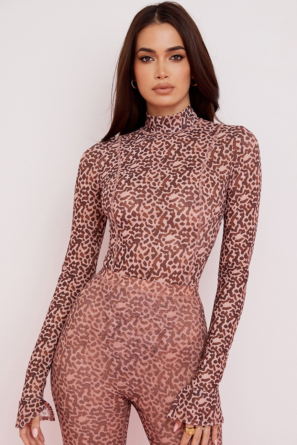 Eleanor Animal Print Mesh Bodysuit